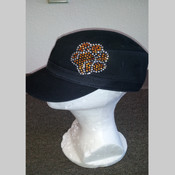 Tiger Wear Rhinestone Paw Military Cap